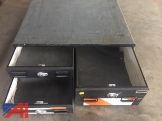 TruckVault with Three Drawer Storage