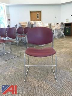 Metal Red Stacking Chairs