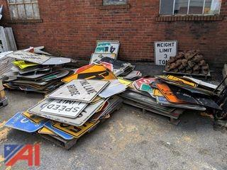Pallets of Various Used Road Signs
