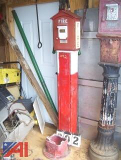 Gamewell Pedestal Mount Fire Box