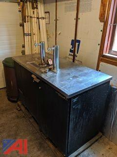 True Refrigerated Bar with Taps