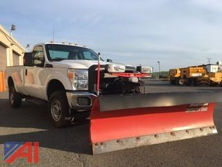 2014 Ford F250 XL Super Duty Pickup Truck with Plow