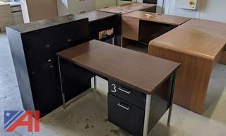 Desks & Metal Bookcase