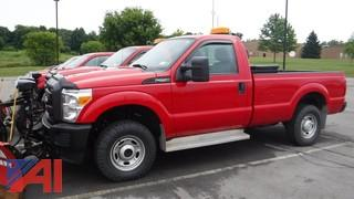 2013 Ford F250 XL Super Duty Pickup Truck with Plow