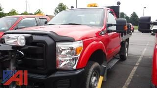 2013 Ford F250 XL Super Duty Flatbed Truck with Plow