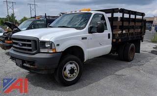 2004 Ford F550 XL Super Duty Stake Rack Pickup Truck
