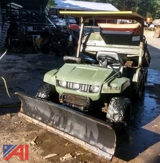 John Deere 6 x 4 Military Gator with Snowplow & Electric Sander