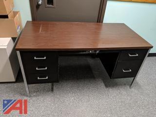 Office Desk - Brown & Black
