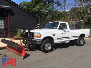 1997 Ford F350 XLT Pickup Truck with Plow
