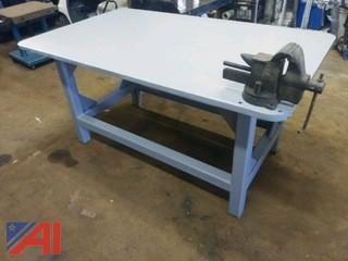Heavy-Duty Welding Table with Vice