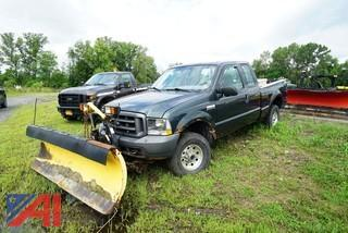 2004 Ford F250 XLT Super Duty Ext. Cab Pickup Truck with Plow/ST7
