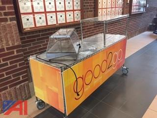 Breakfast Cart with Equipex WD100 Warming Unit & Stainless Steel Icing Bin
