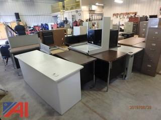 Assorted Metal Office Furniture