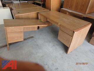 Wooden L-Shaped Desks