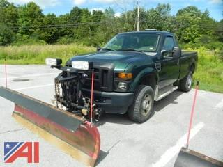 2008 Ford F350 XL Super Duty Pickup Truck with Plow