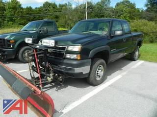 2007 Chevy Silverado 2500HD Extended Cab Pickup Truck with Plow