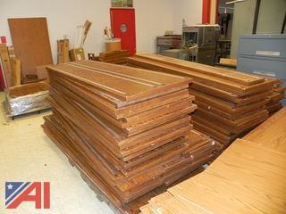 Pallets of Oak Book Shelves