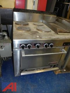 Garland Electric Oven with Four Burners