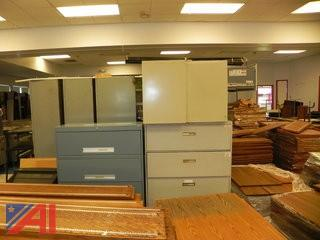 Various Size Metal Filing Cabinets