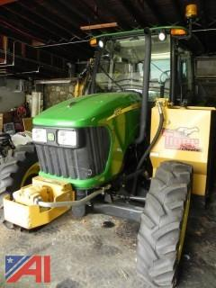 2008 John Deere 5525 Tractor w/ Boom Mower Attachment