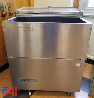 "Beverage-Air ST34N-S 34"" Stainless Steel 2-Sided Cold Wall Milk Cooler"