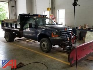 2001 Ford F550 Dump Truck with Plow