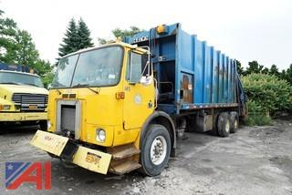 2001 Volvo Xpeditor WX64 Leach Rear Loader Sanitation Truck/S145