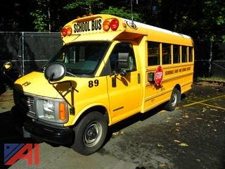 (#89) 2002 GMC/Corbeil Savana G3500 Mini School Bus