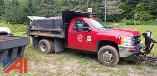 2011 Chevy Silverado 3500HD Dump Truck with Plow and Spreader