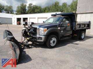 2015 Ford F450 Super Duty Dump Truck with Plow
