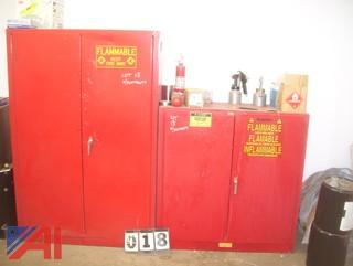 Flammable Cabinets with Contents
