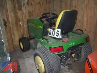 """2001 John Deere 455 Tractor with 60"""" Mowing Deck"""