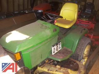 """1996 John Deere 455 Tractor with 60"""" Mowing Deck"""