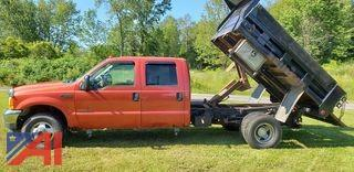 2001 Ford F350 Super Duty Pickup Truck with Dump Box