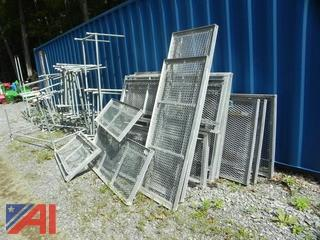 Galvanized Steel Greenhouse Trays & Shelving