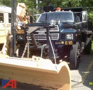 1995 Ford F700 Dump Truck with Plow and Wing