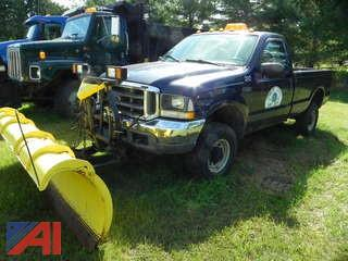 (#8) 2003 Ford F350 XL Super Duty Pickup Truck with Plow