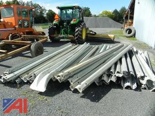 Large Lot of Galvanized Steel Guard Rails