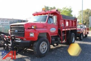1994 Ford F700 Dump with Plow