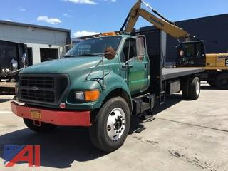 2000 Ford F750XL Flatbed/Dump Truck