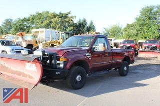 2008 Ford F250 XL Super Duty Pickup Truck with Plow