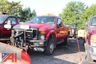 2010 Ford F250 XL Super Duty Pickup Truck with Plow