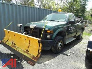 2008 Ford F250 XL Super Duty Pickup Truck with Plow and Sander