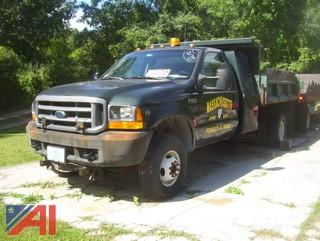 2001 Ford F350 XL Super Duty Dump Truck with Plow