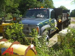 1998 Chevy C/K 3500 Stake Truck with Plow