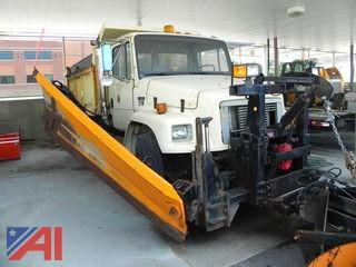 (#27) 2001 Freightliner FL80 Dump Truck with Plow and Wing
