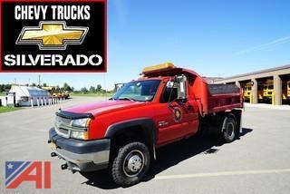 2004 Chevy Silverado 3500 Dump Truck with Plow