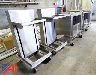Serv-O Lift S/S Dish and Tray Carts