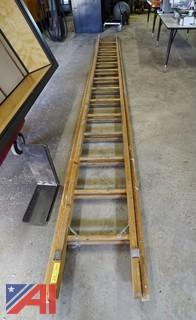 28' Wooden Extension Ladder