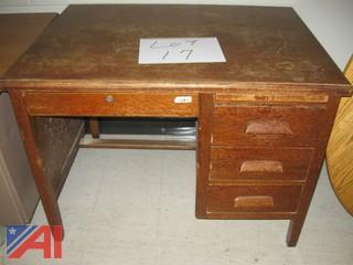 Wooden Teacher's Desk